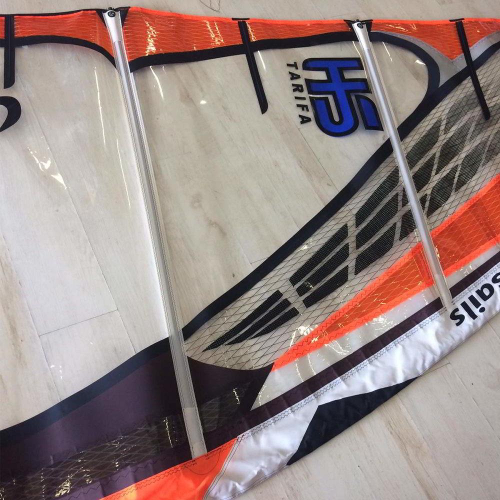 Vela de windsurf segunda mano LoftSails PureLip 4.7 vista parte superior