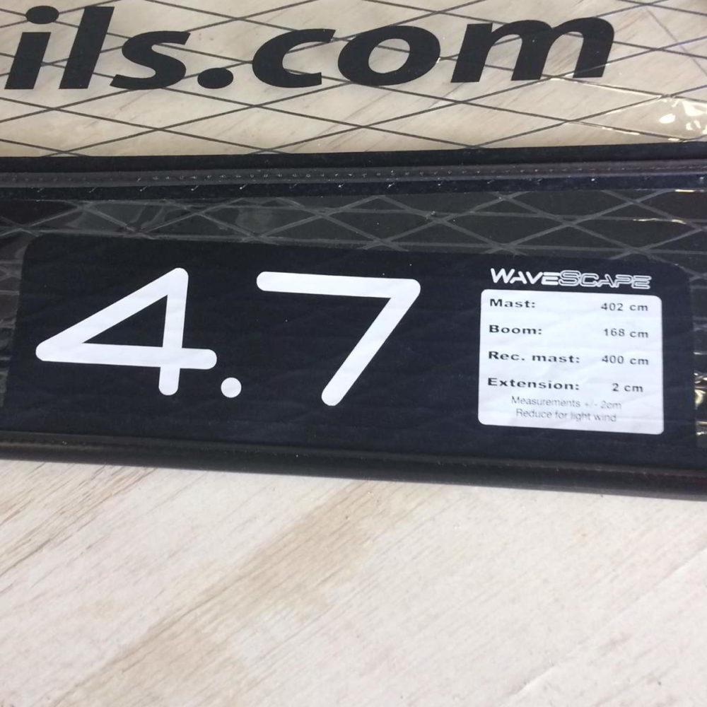 Vela de windsurf segunda mano LoftSails PureLip 4.7 vista medidas