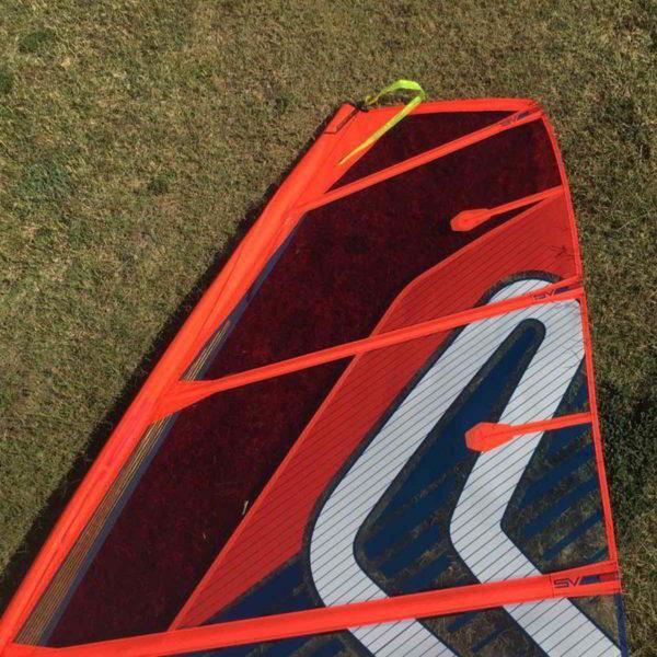 Vela windsurf Severne NCX 7.5 vista superior