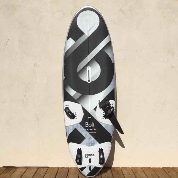 Tabla de windsurf Goya Bolt 125L vista frontal