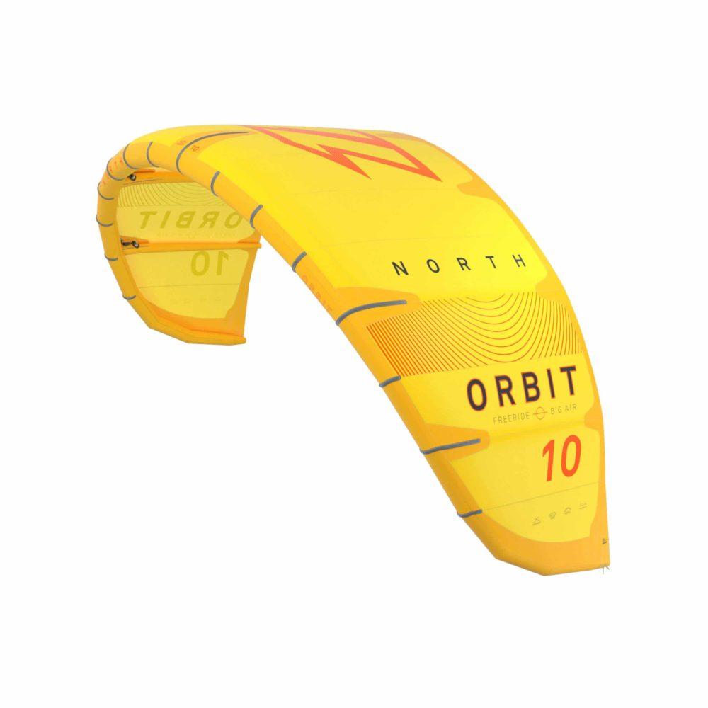 Cometa Kitesurf North Orbit en amarillo