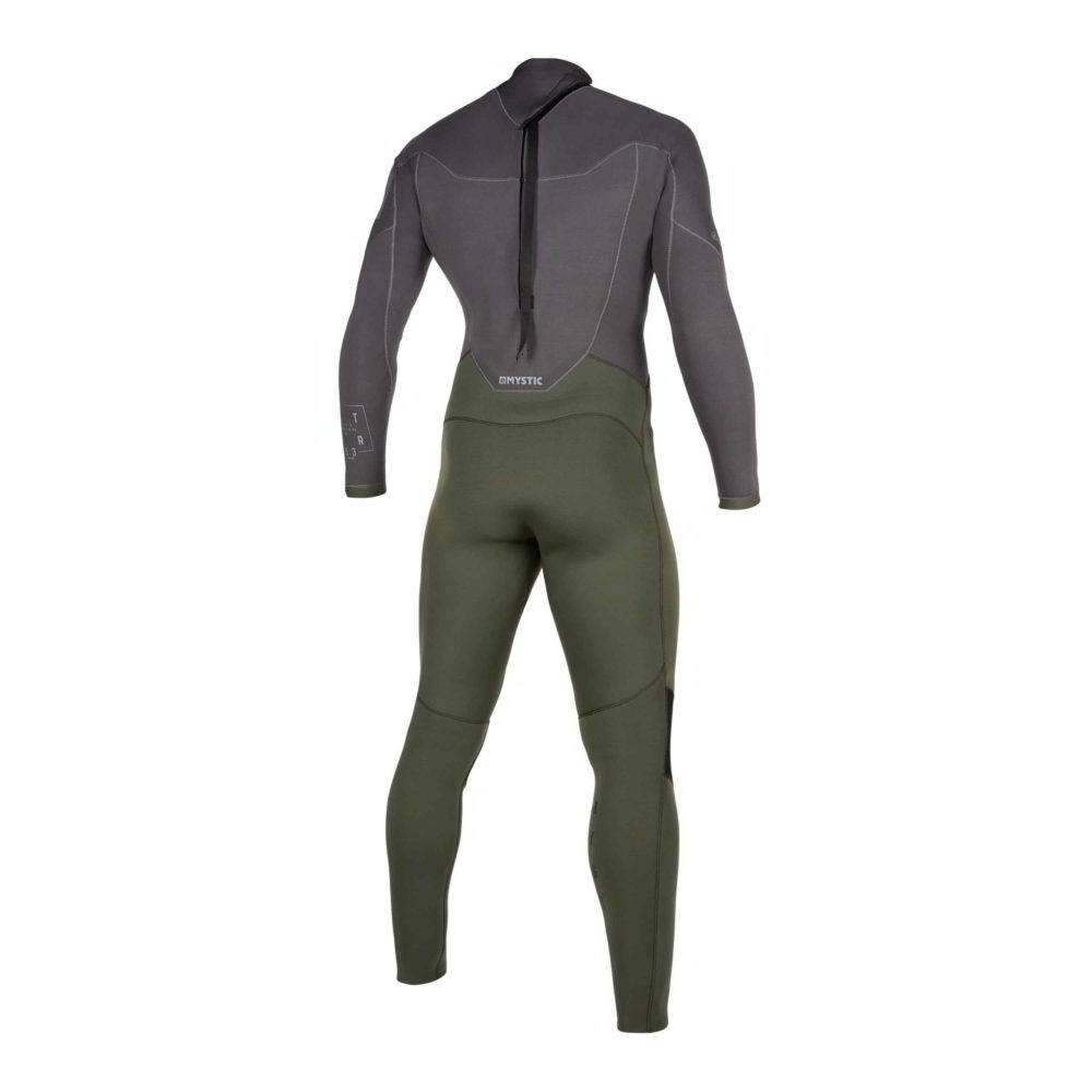 Neopreno Mystic Star Fullsuit 5/3 bzip grey/green por detras