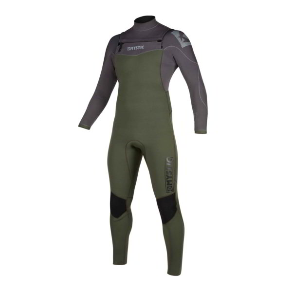 Neopreno Mystic Star fullsuit 5/3mm double fzip grey/green por delante