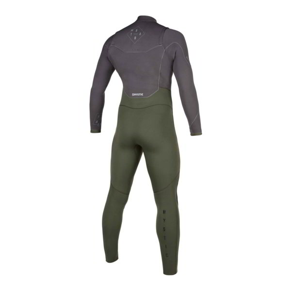 Neopreno Mystic Star fullsuit 5/3mm double fzip grey/green por detras