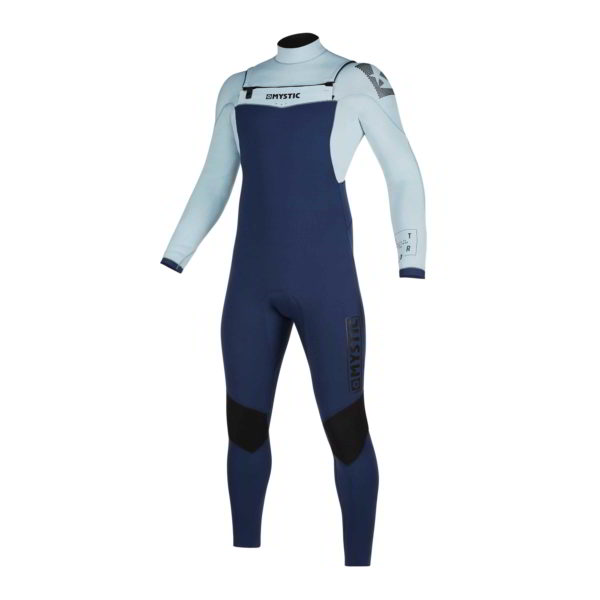 Neopreno Mystic Star fullsuit 5/3mm double fzip navy/grey por delante