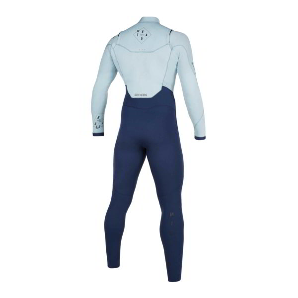Neopreno Mystic Star fullsuit 5/3mm double fzip navy/grey por detras