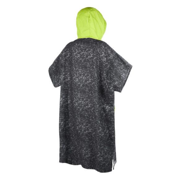Poncho Mystic Allover black lime por detras