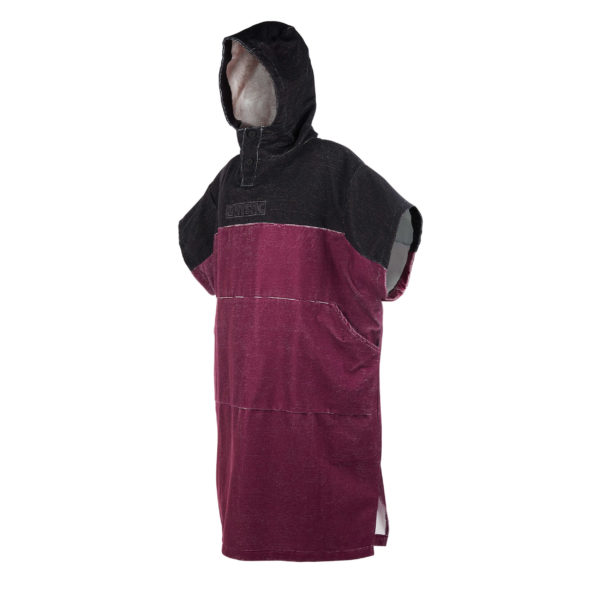 Poncho Mystic Regular Dark red por delante