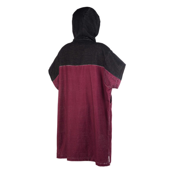 Poncho Mystic Regular Dark red por detras