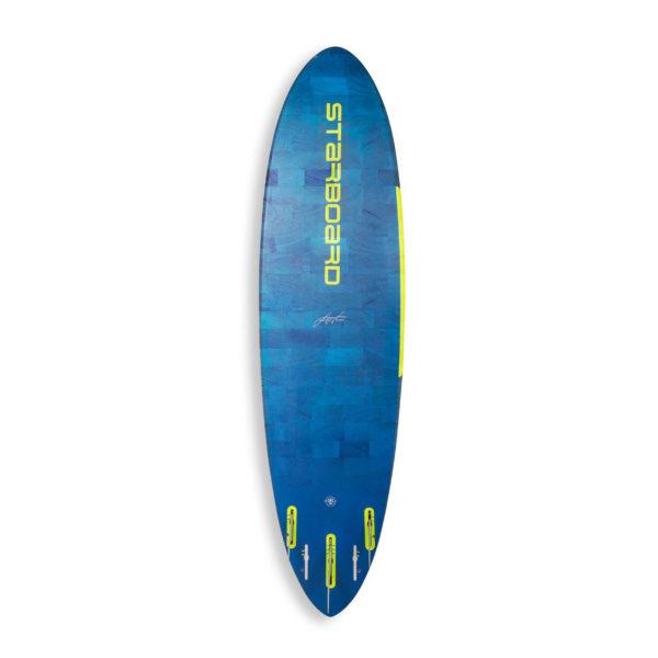 Tabla de Windsurf Starboard Ultrakode 2020 Flax Balsa vista trasera